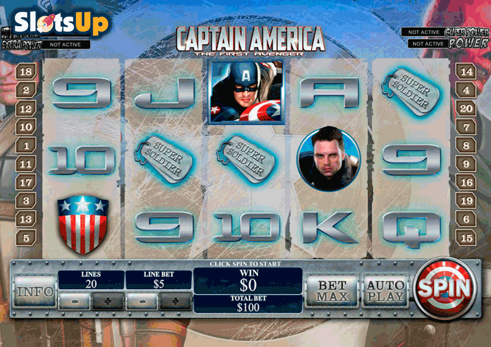 CAPTAIN AMERICA PLAYTECH CASINO SLOTS