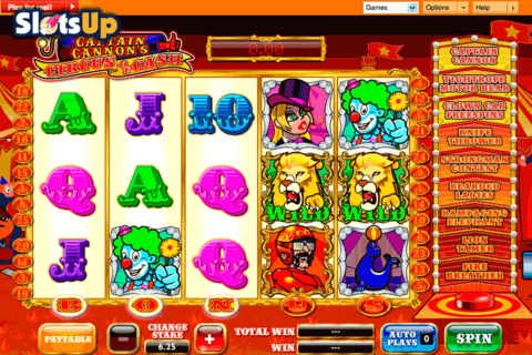 CAPTAIN CANNONS CIRCUS OF CASH ASH GAMING CASINO SLOTS