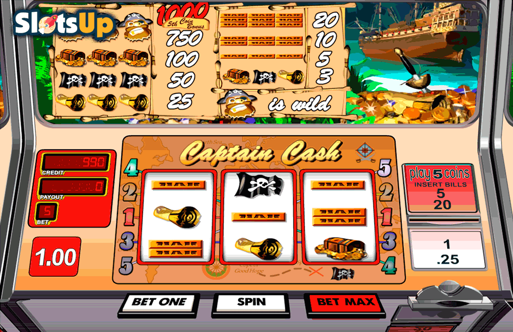 captain cash betsoft casino slots
