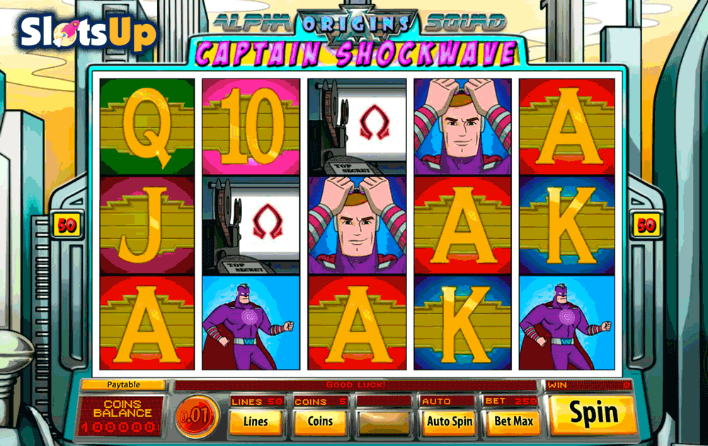 CAPTAIN SHOCKWAVE SAUCIFY CASINO SLOTS