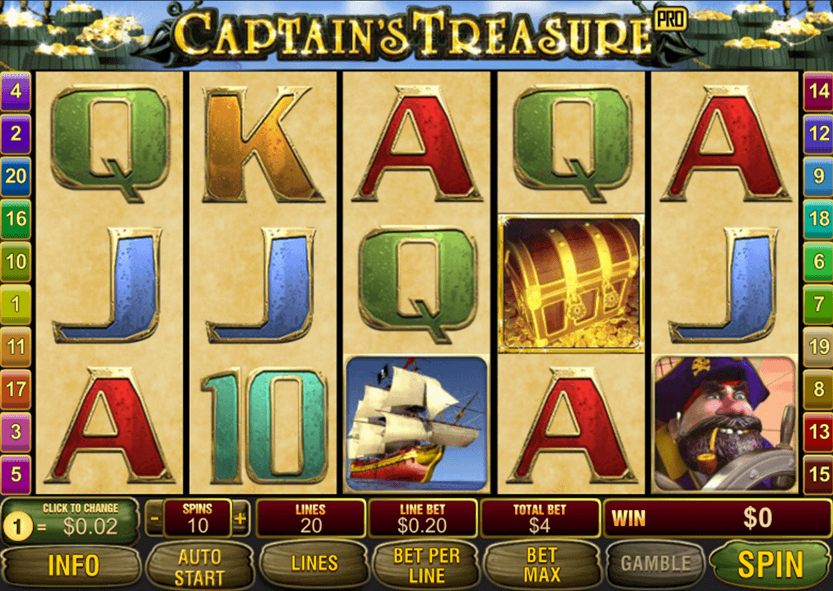 Captains Treasure™ Slot Machine Game to Play Free in Playtechs Online Casinos
