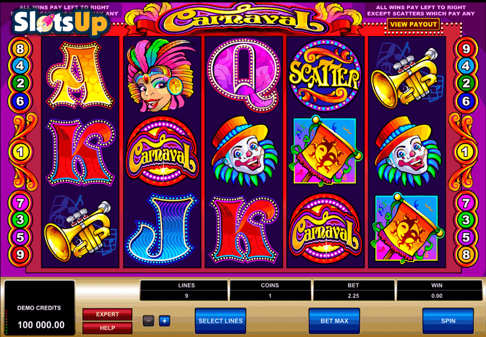Carnaval Slot Machine - Play Free Microgaming Slots Online