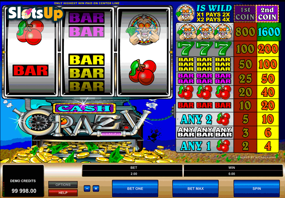 CASH CRAZY MICROGAMING CASINO SLOTS