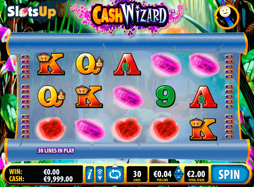 play cash wizard slot machine online