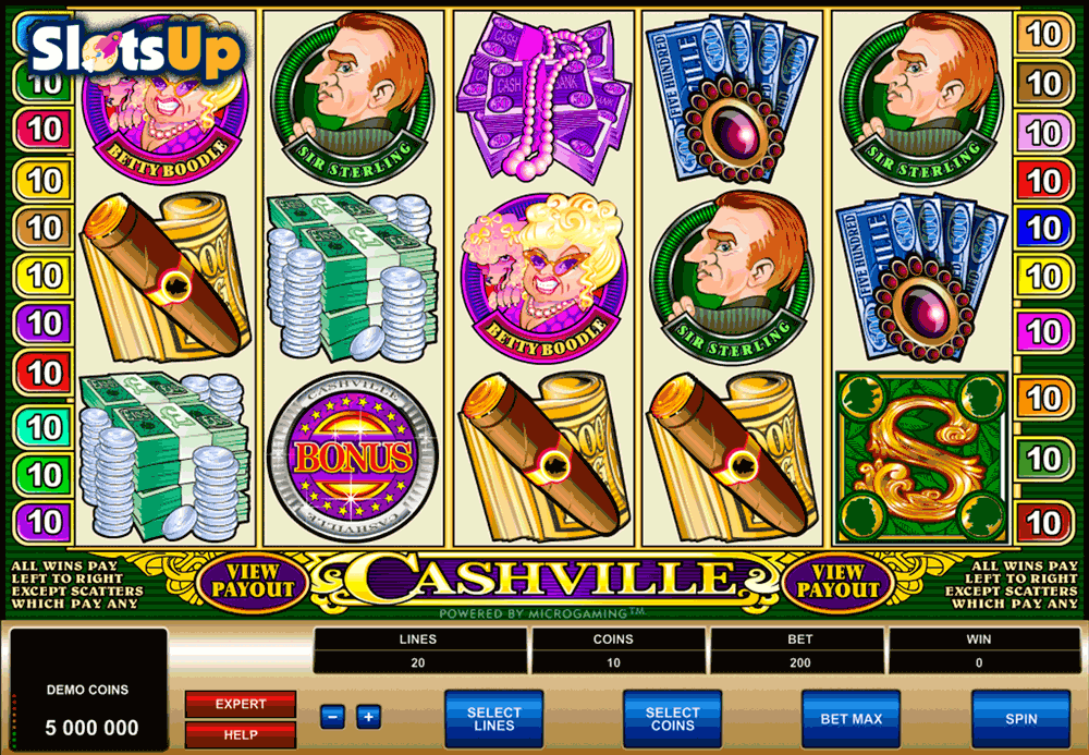 CASHVILLE MICROGAMING CASINO SLOTS
