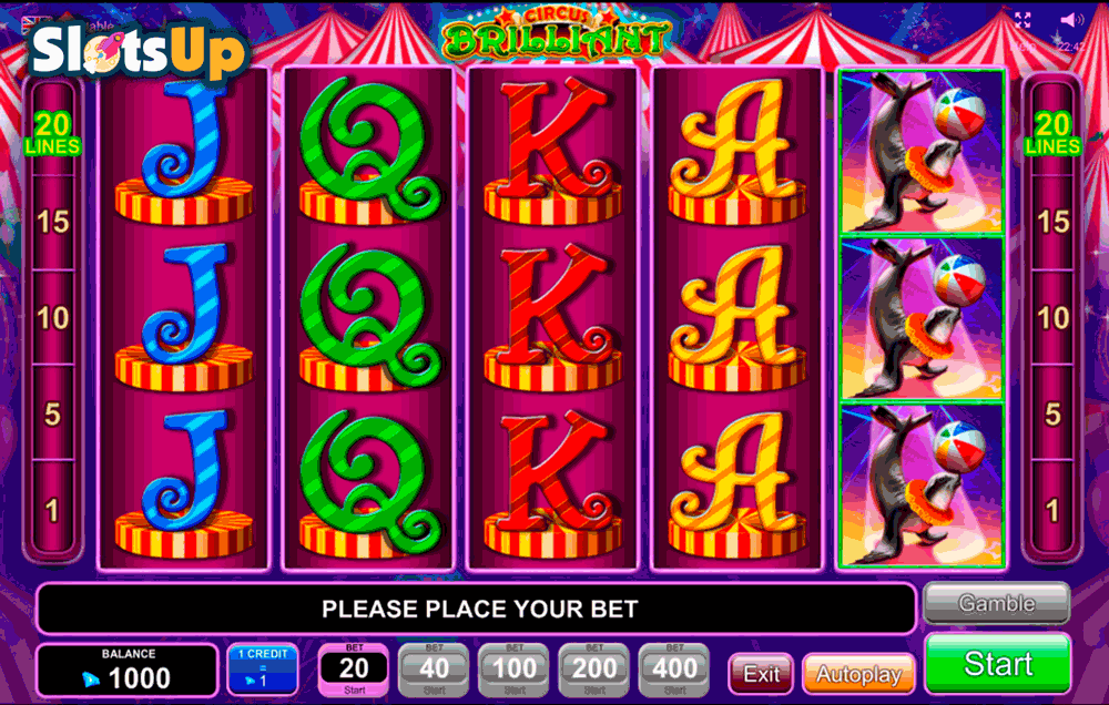 CIRCUS BRILLIANT EGT CASINO SLOTS