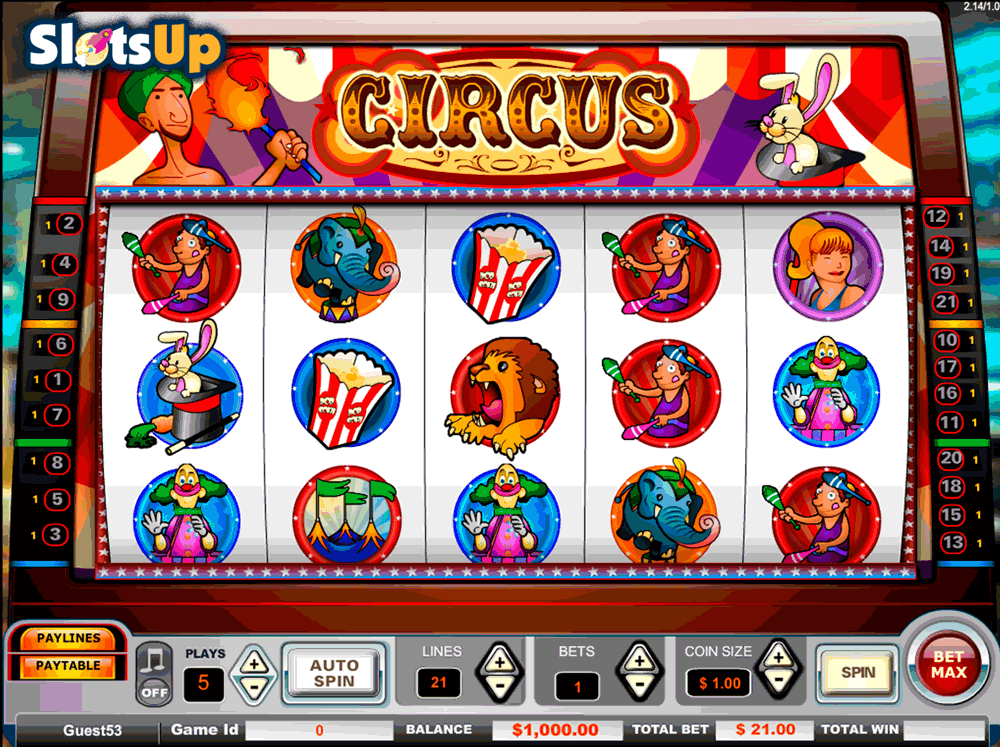 Circus™ Slot Machine Game to Play Free in PartyGamings Online Casinos