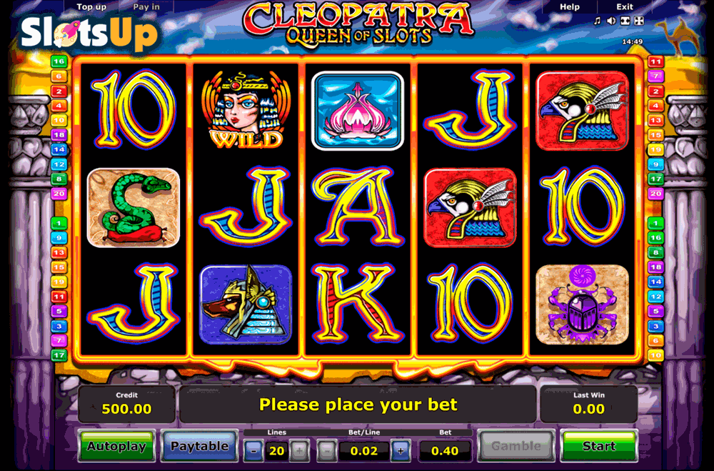 cleopatra online slot free casino games book of ra