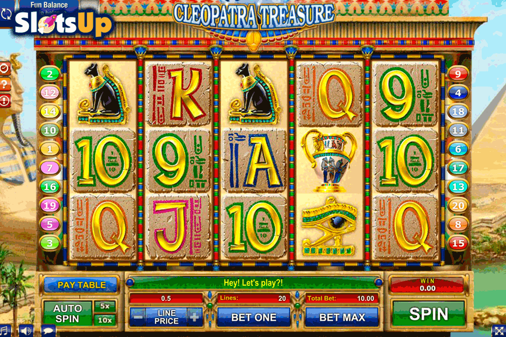 Cleopatra Treasure Slot Machine Online ᐈ GamesOS™ Casino Slots