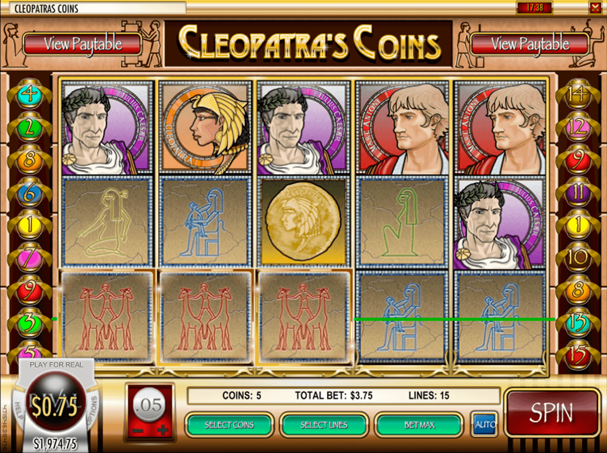 cleopatras coins rival casino slots