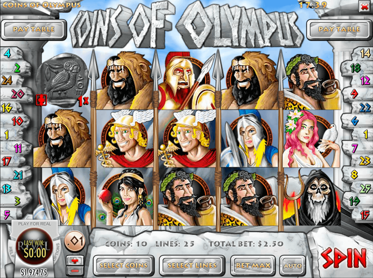 Coins of Olympus Slot Machine - Play Online for Free