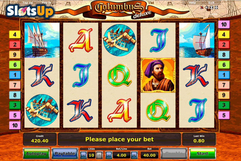 Columbus Slot Machine Online - Play Free Novomatic Slots