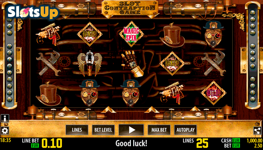 Contraption Game Slot - Play for Free Instantly Online
