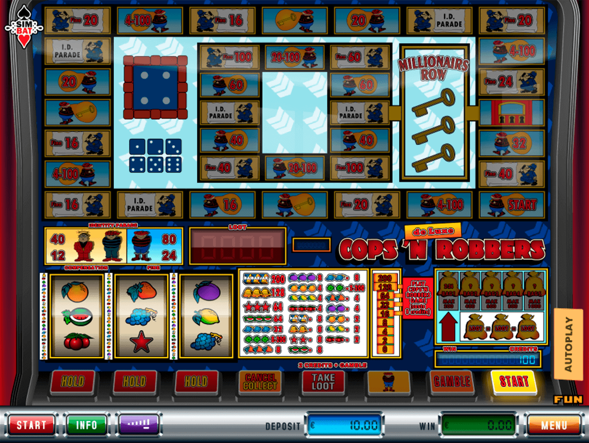free online bonus slots cops and robbers slot