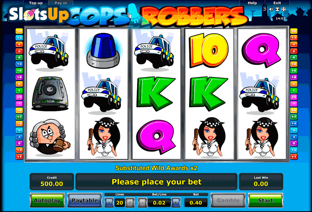 deposit online casino cops and robbers slot