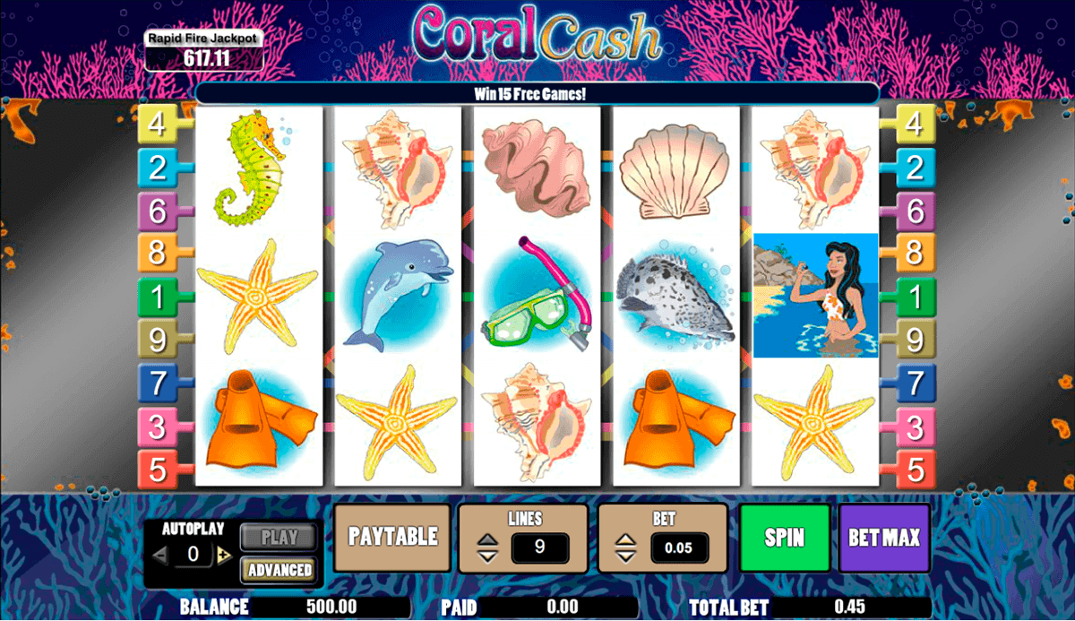 Coral Cash™ Slot Machine Game to Play Free in PartyGamings Online Casinos