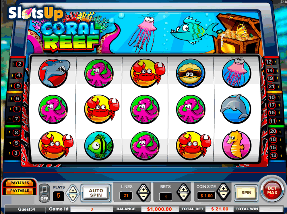 Treasure Reef™ Slot Machine Game to Play Free in GameArts Online Casinos
