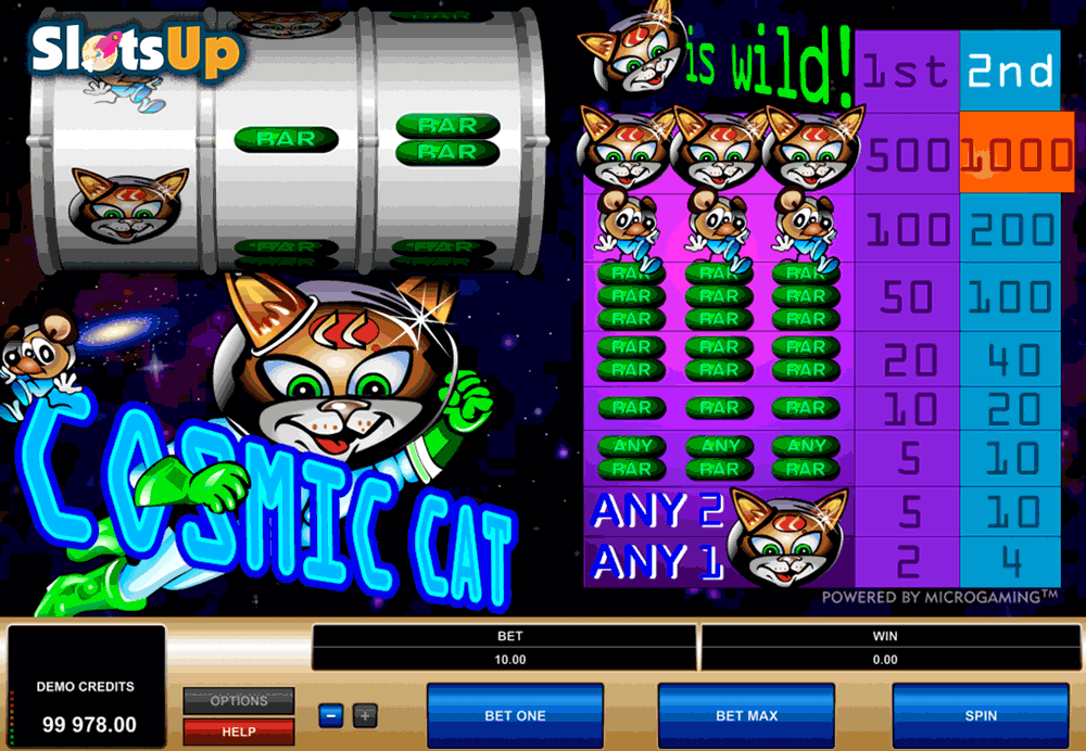 Cosmic Cat Slot Machine Online ᐈ Microgaming™ Casino Slots