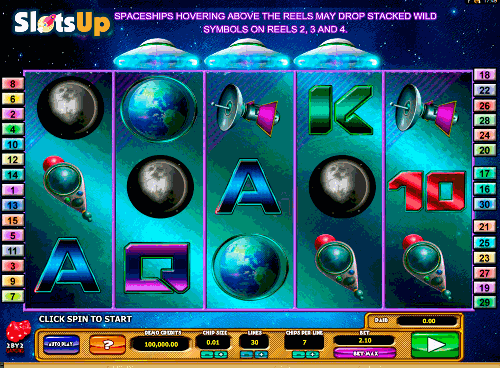 Cosmic Invaders Slot Machine Online ᐈ 2By2 Gaming™ Casino Slots