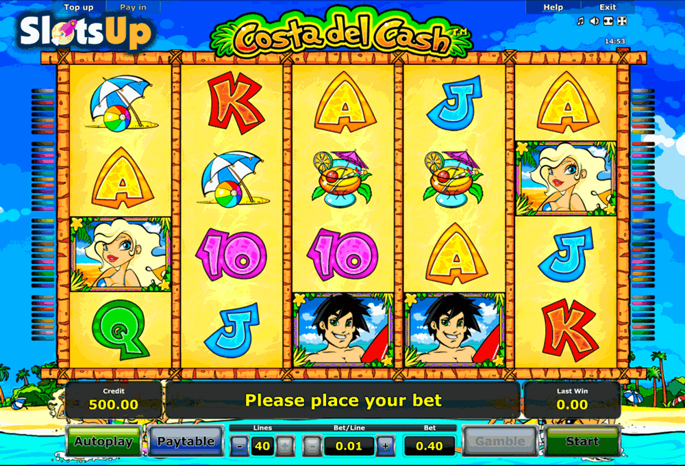 Play Costa del Cash Slot Game Online | OVO Casino