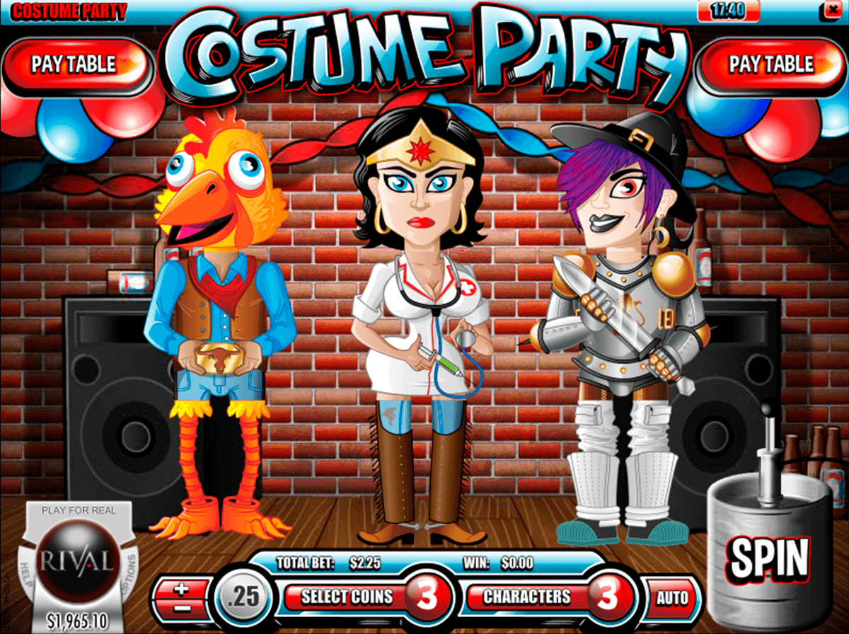 costume party rival casino slots