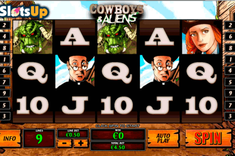 cowboys and aliens playtech casino slots 480x320