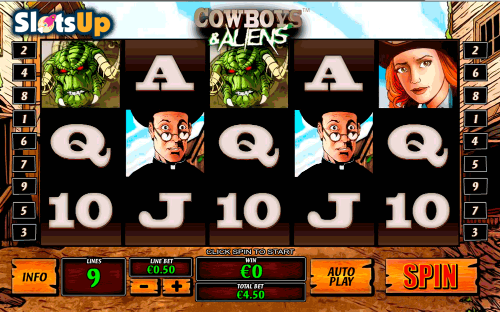 cowboys and aliens playtech casino slots