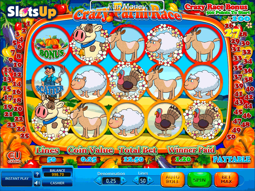Crazy Farm Race Slots - Play SkillOnNet Games for Fun Online