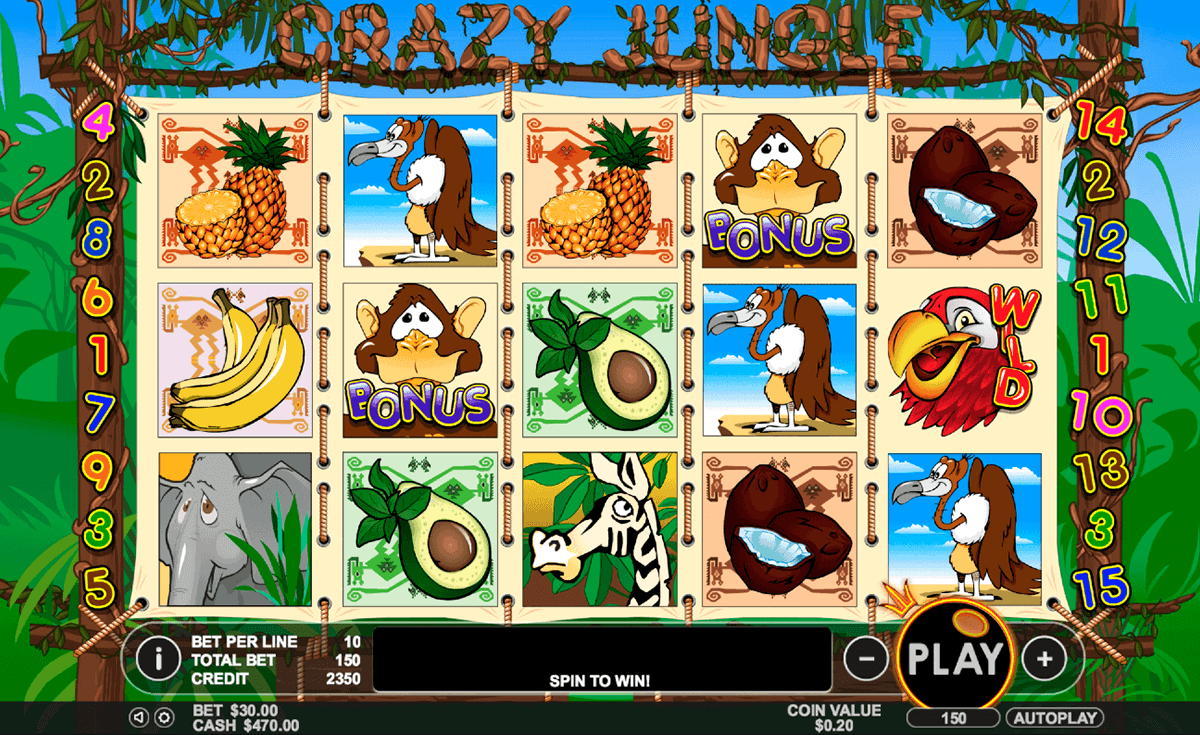 Crazy Jungle is a well-rounded modern video slot game with a lot of special features to offer.On top of all that we have listed, the game also offers several progressive jackpots.To get a chance to unlock them, you have to make sure that you are playing all-in.As always, taking risks can really pay off/5(87).