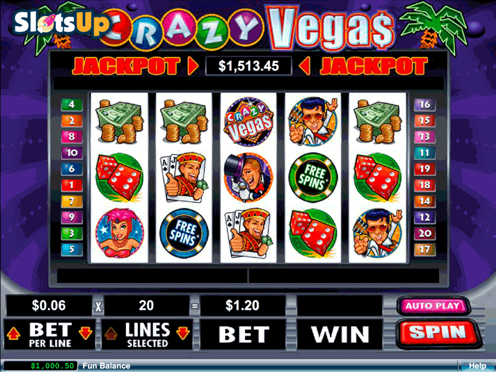 Crazy Slots Slot Machine Paytables