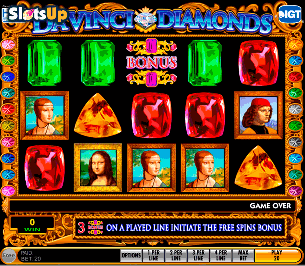 DA VINCI DIAMONDS IGT CASINO SLOTS
