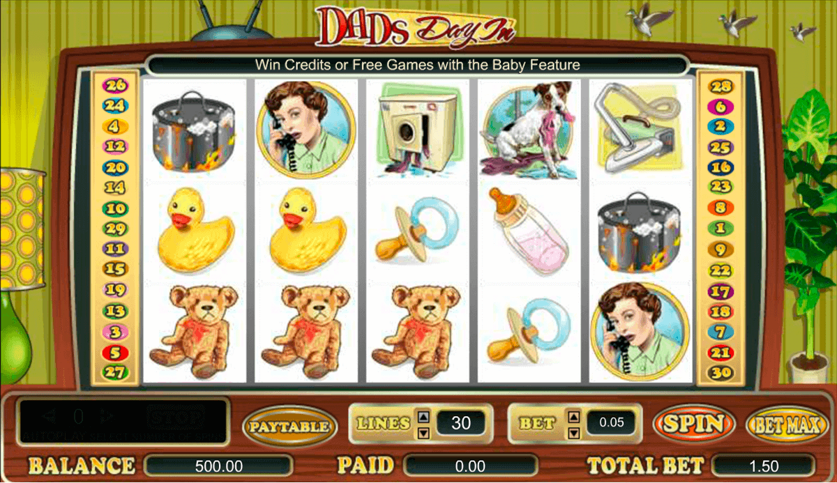 Dads Day In Slot Machine - A Free Online Slots Game by Amaya