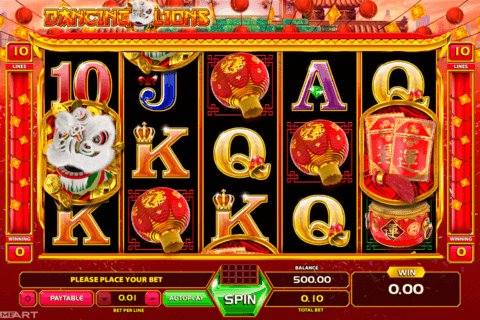 DANCING LION GAMEART SLOT MACHINE