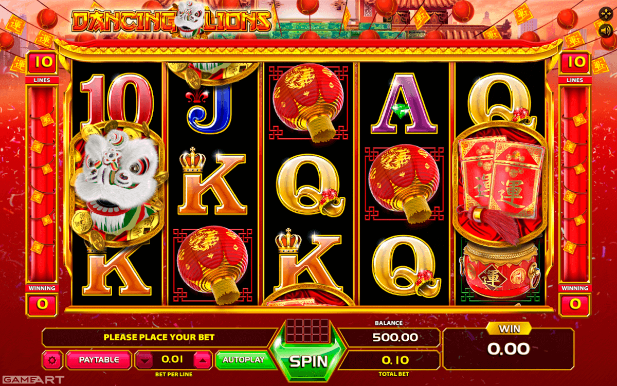 Play Dancing Lions online: Check out our slot review below GameArt has yet again developed and created a game filled with colours and details in perfect graphics.This video slot has taken its primary inspiration from China and the culture of this phenomenal country – the Chinese New Year celebration.We are presenting Dancing Lions!