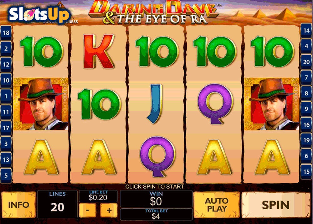 daring dave the eye of ra playtech casino slots
