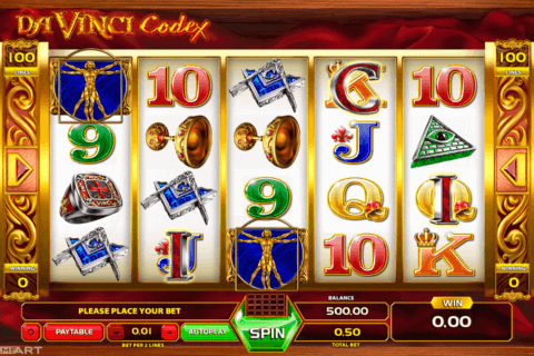 DAVINCI CODEX GAMEART SLOT MACHINE