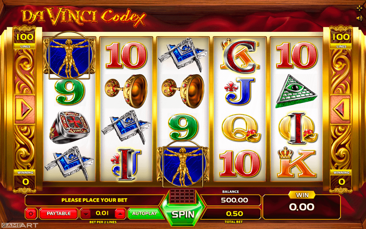 Da Vinci Codex Slot - Play this Gameart Casino Game Online