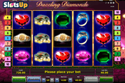 DAZZLING DIAMONDS NOVOMATIC CASINO SLOTS