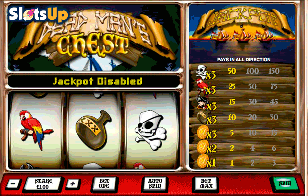 Dead Mans Chest 1 Line Slots - Play Online for Free