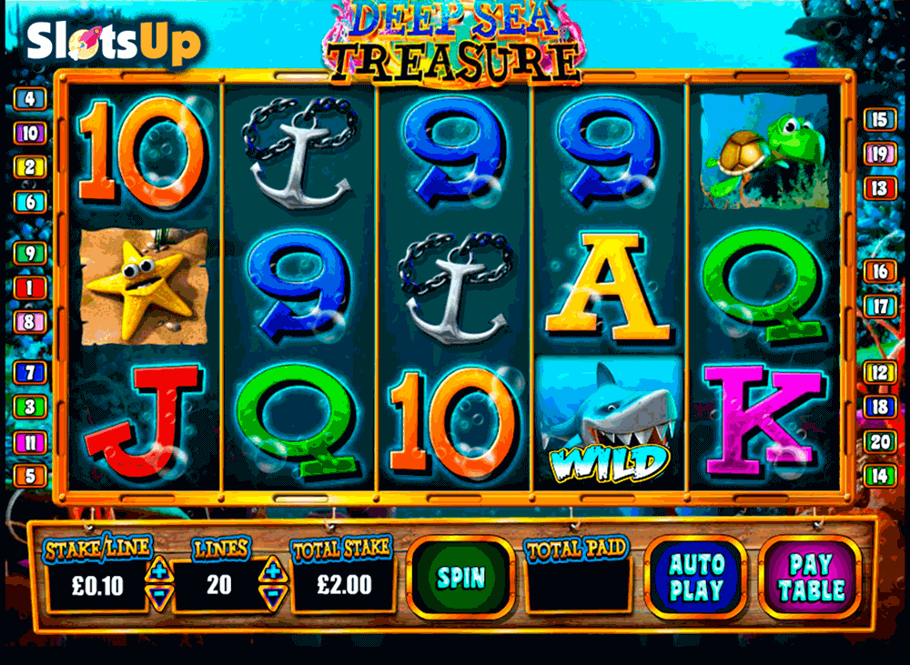 DEEP SEA TREASURE BLUEPRINT CASINO SLOTS