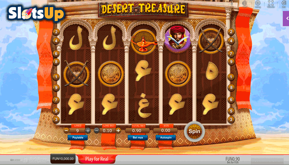 Desert Treasure Slot Machine - Play for Free Online Today