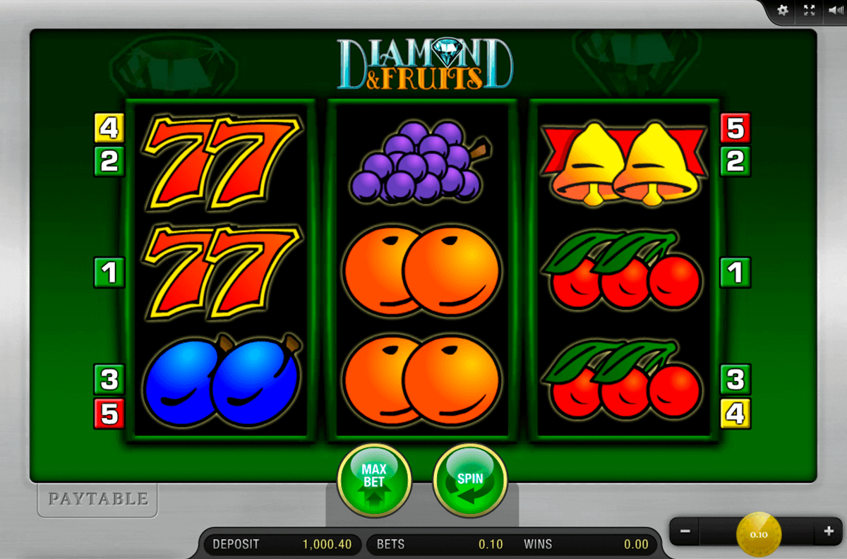 DIAMOND AND FRUITS MERKUR CASINO SLOTS
