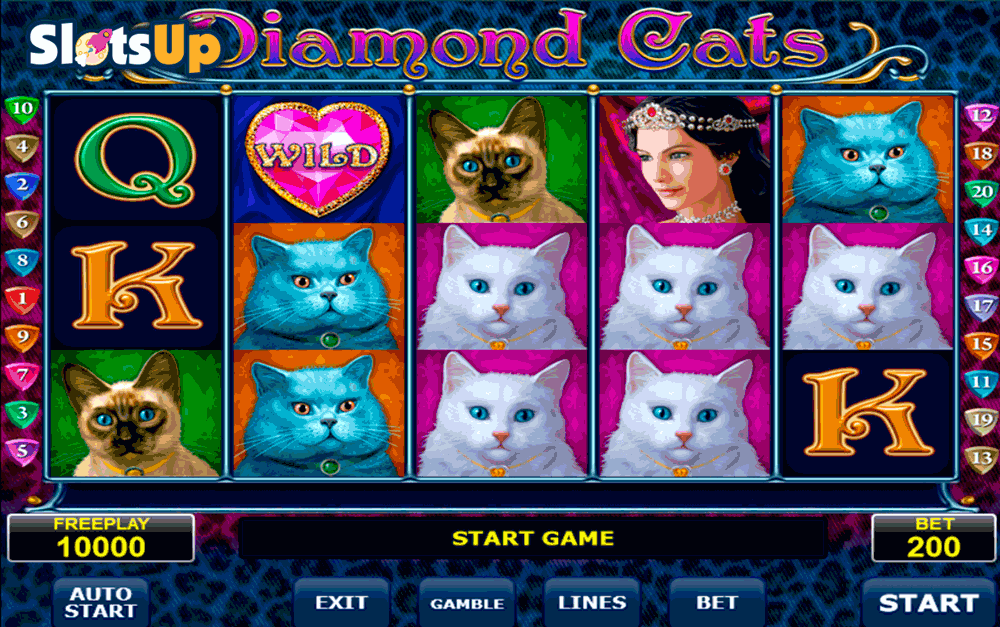 Diamond Cats™ Slot Machine Game to Play Free in Amatics Online Casinos