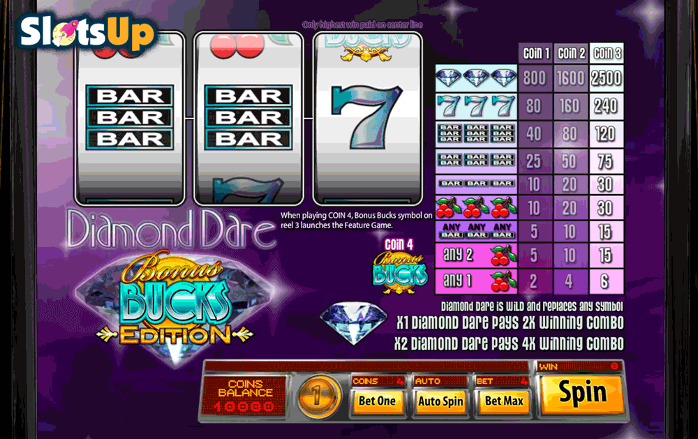 Diamond Dare™ Slot Machine Game to Play Free in Saucifys Online Casinos