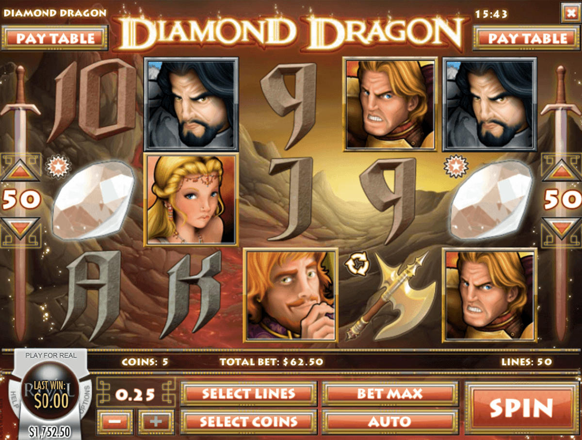 Diamond Dragon Slot - Play this Video Slot Online