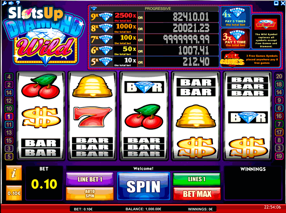 Diamond Wild™ Slot Machine Game to Play Free in iSoftBets Online Casinos