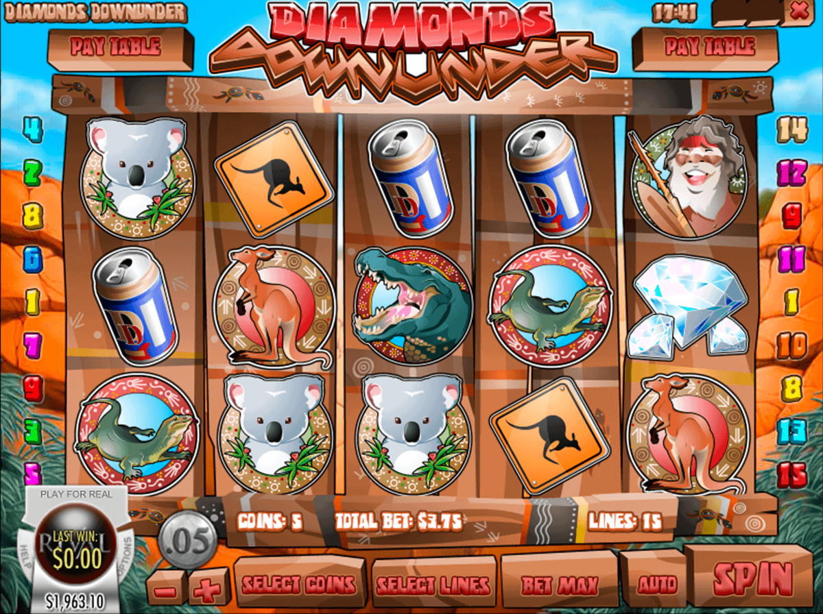 Diamonds Down Under Slot - Play this Rival Game Free Online
