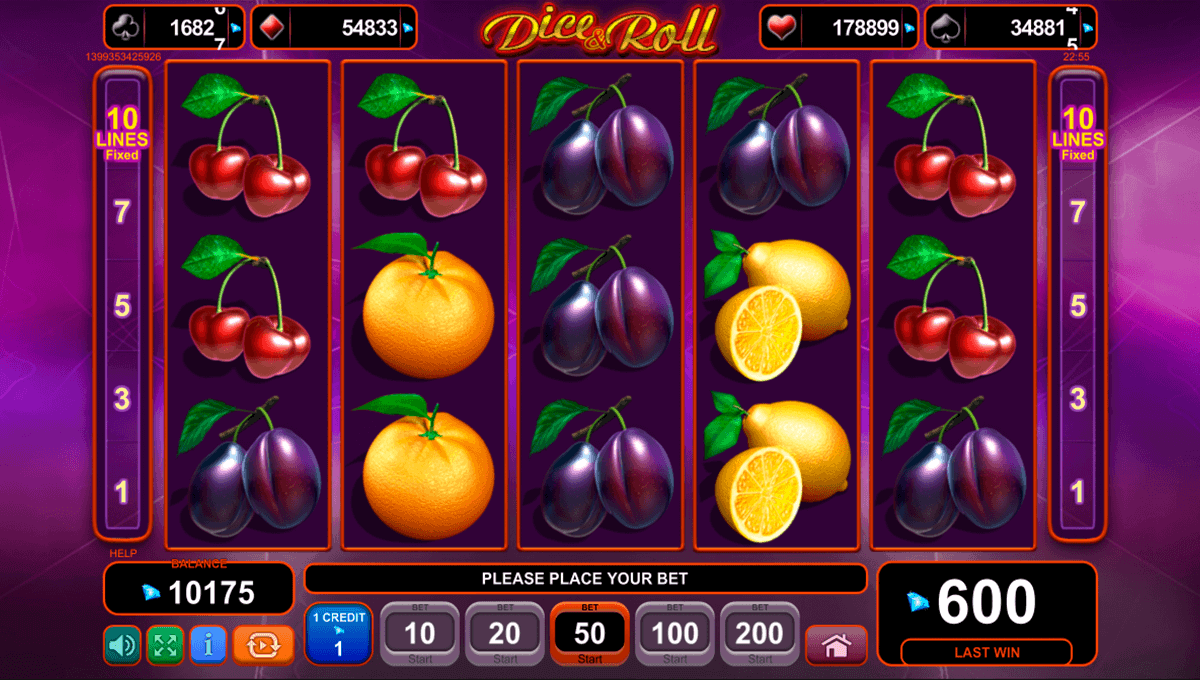 merkur slots online dice and roll