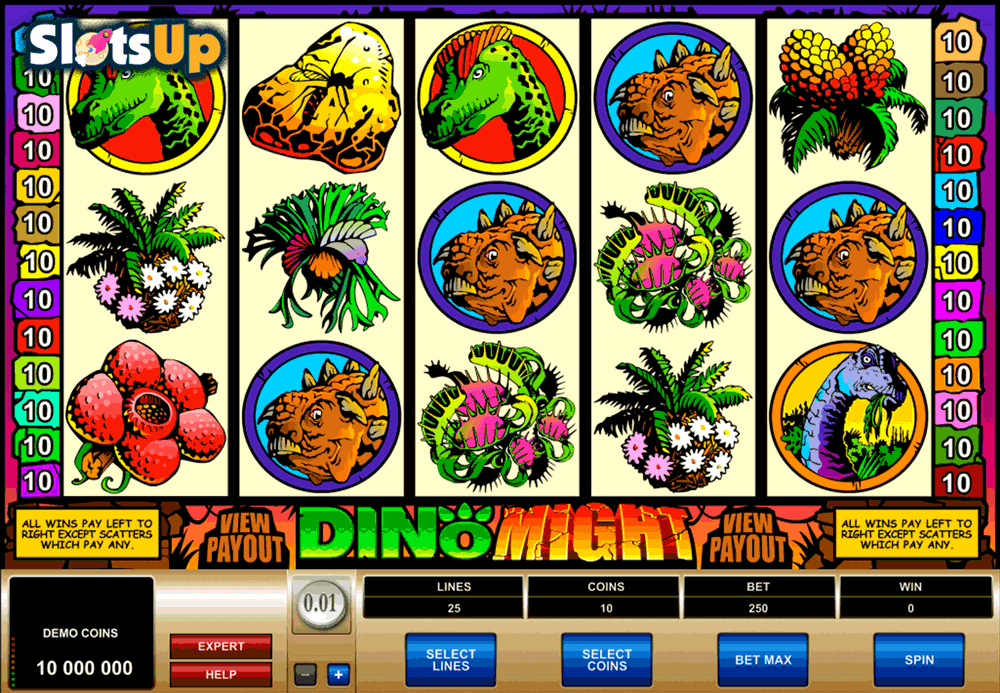 DINO MIGHT MICROGAMING CASINO SLOTS