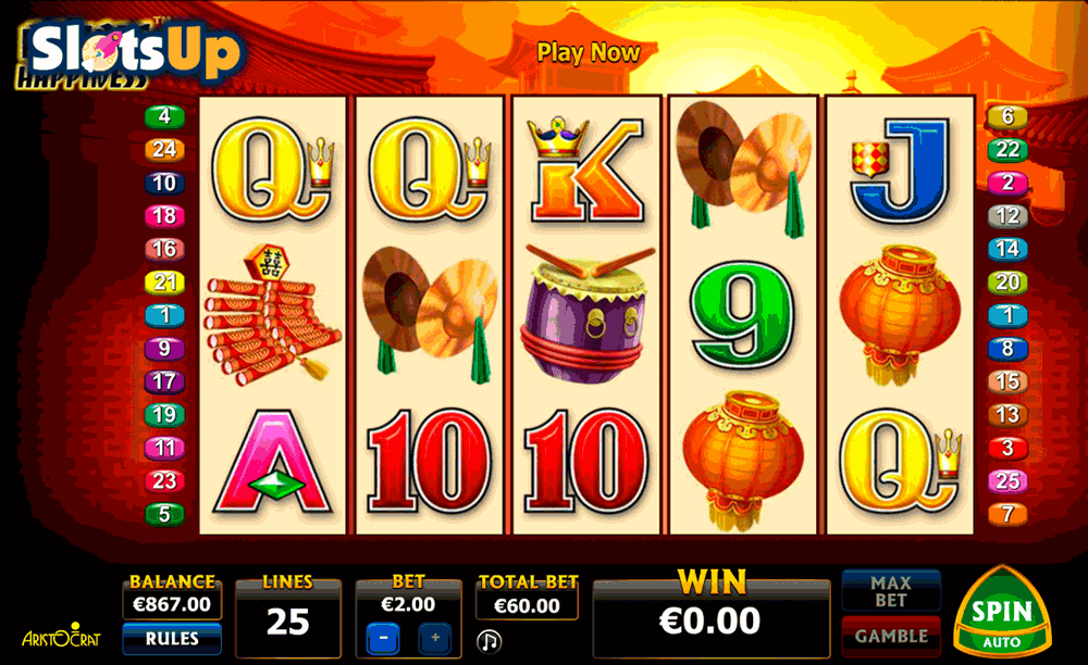 DOUBLE HAPPINESS ARISTOCRAT CASINO SLOTS